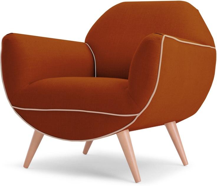 Juno Armchair, Burnt Orange from made.com