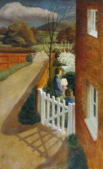 Gilbert Spencer, 'Air Raid Warning' 1940