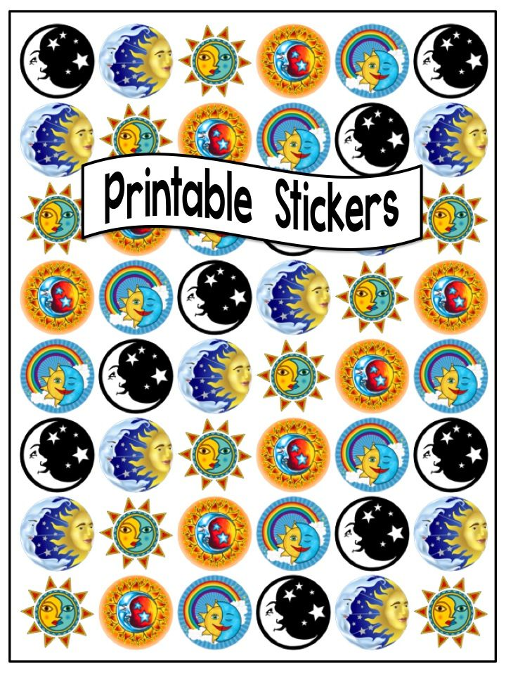 It is an image of Exceptional Printable Round Stickers