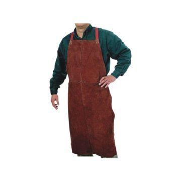 42x24 Lava Brown 500 Leather Bib Apron