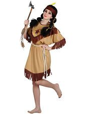 Ladies Native Indian Squaw Wild West Pocahontas Fancy Dress Costume BN