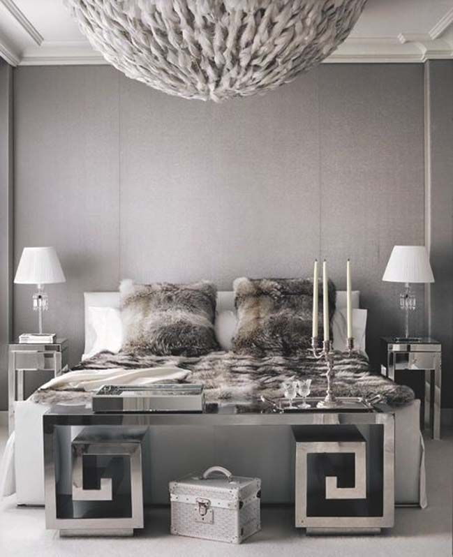 Charming 15 Glamour Silver Bedroom Designs