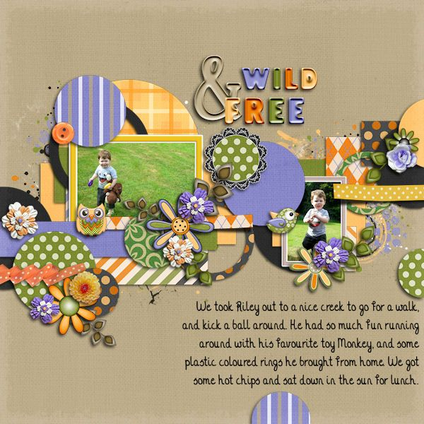 Layout by Kahlia Credits: Birds on the Tree Kit and Circle Fantasty Templates, both by Tinci Designs.