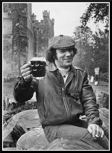 Have a drink on me!  Brian Johnson, AC/DC
