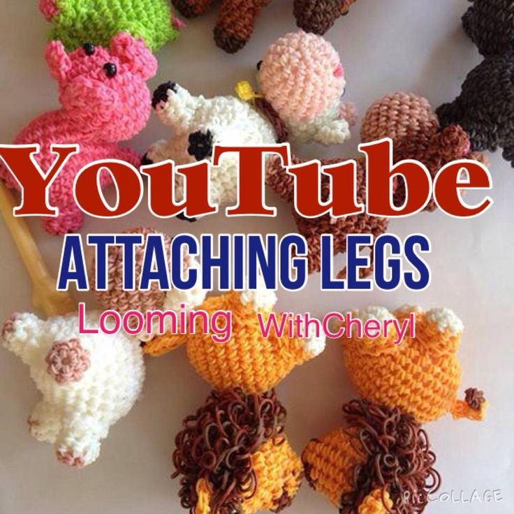 Rainbow Loom Attaching Legs To your Loomigurumi Animals - Looming WithCh...