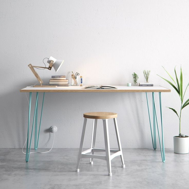Our bestselling hairpin legs, combined with a beautiful piece of Formica-coated birch. Perfect as a large office desk or stylish dining table. Free UK delivery.