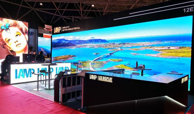 Main screen: large screen, 10(width)*3(height) m, GN 3.1(indoor narrow pixel pitch) Side screen: window screen, 3.6(width)*1.8(height) m, L5S (maximumly show the color of the images)