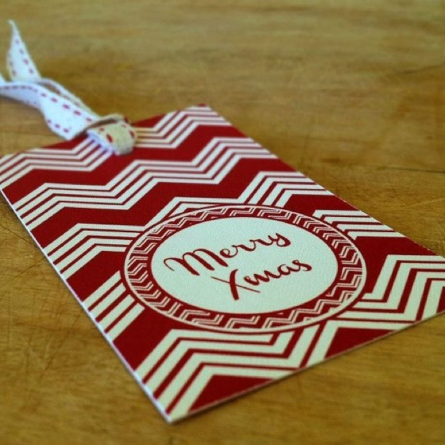 Christmas Gift tags with cotton twill ribbon. R100 for a set of 20. Info@alicemay.co.za