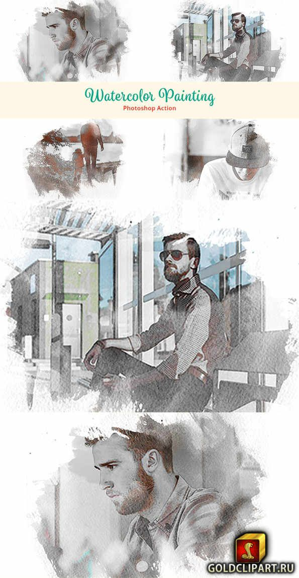 Watercolor Painting Photoshop Action 2821013 Photoshop Actions