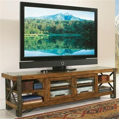 Riverside 3442 Sierra 80 Inch TV Console available at Hickory Park Furniture Galleries