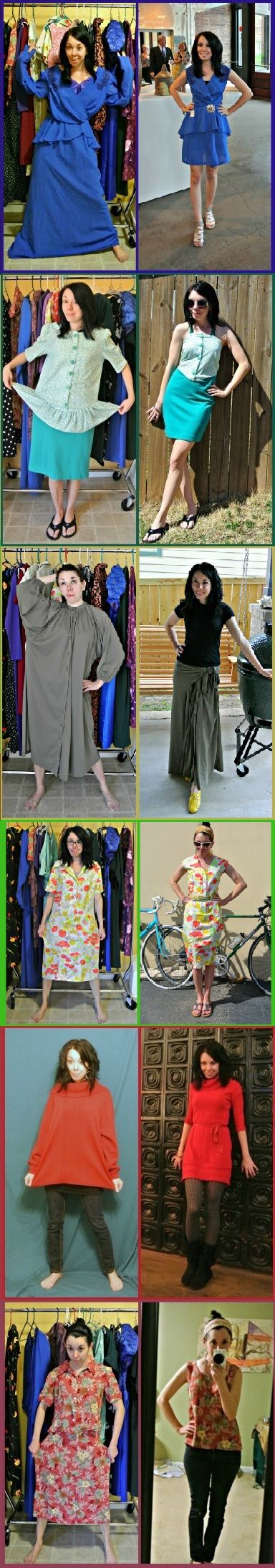 I love this, such a good way to save money, have fun, reuse clothes! I just need to learn how to sow...lol