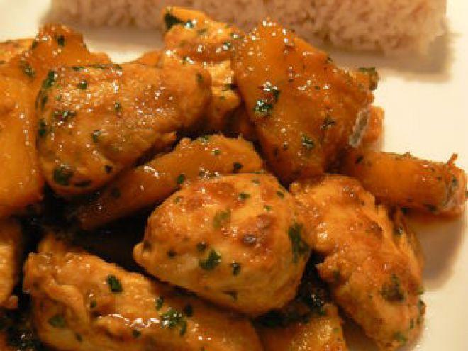 Recette Plat : Poulet à l'ananas, marinade citron - miel par Ma p'tite cuisine