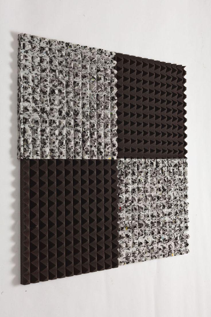 hangszigetelő szivacs piramis tarka 100x100x4cm öntapadós - 3