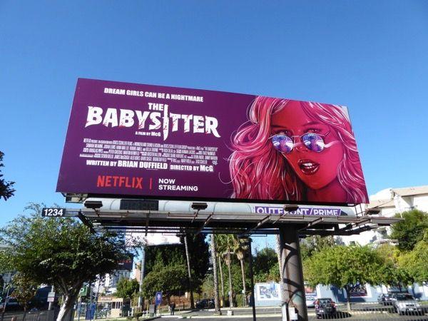 The Babysitter movie billboard