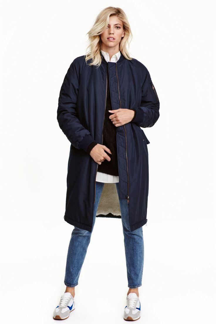 Куртка-бомбер на подкладке | H&M