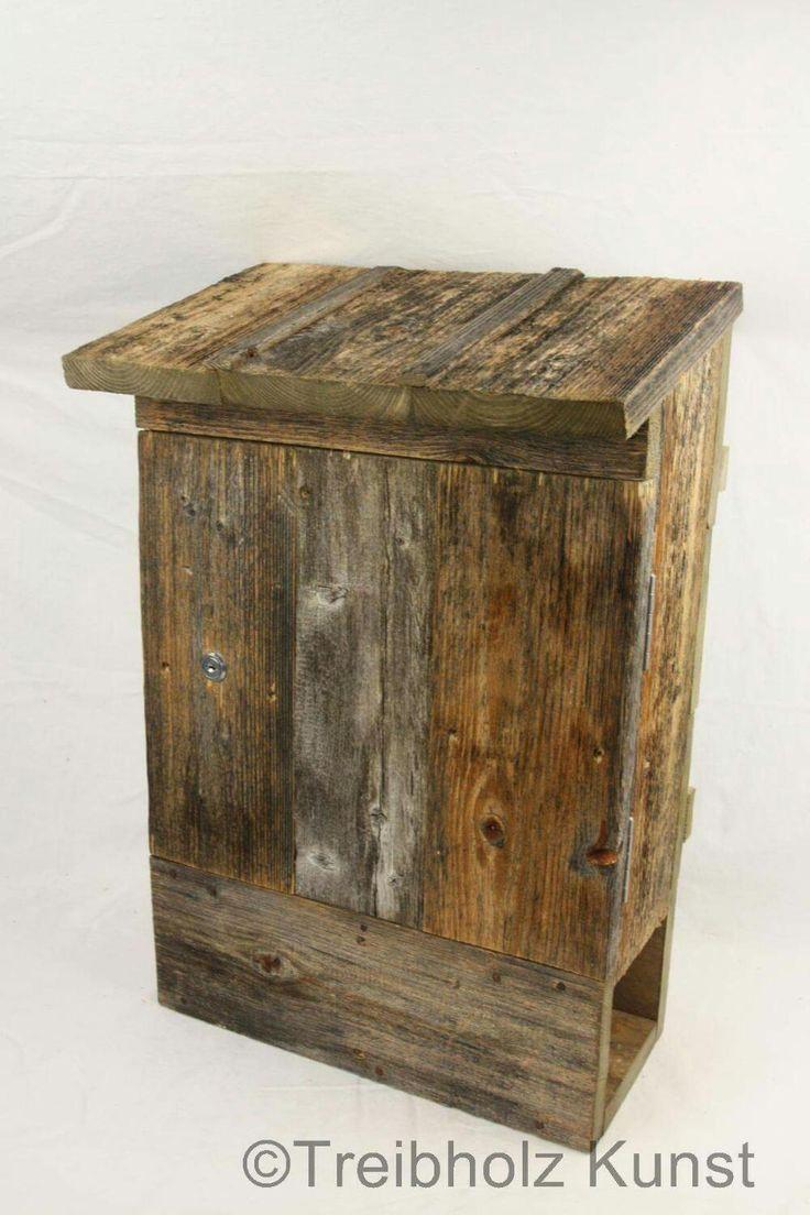 Wieder ein Kundenauftrag fertig. Ein sehr sch?ner rustikaler #Holz #Briefkasten . http://www.treibholz-bodensee.de/