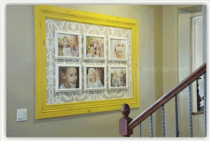 DIY Picture Frames. Ideas for displaying photos.  I LIKE THIS IDEA TO DISPLAY THE KIDS PICS