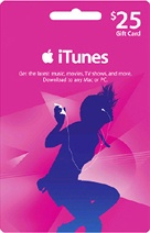 Online iTunes $25 Gift Card [Canada] at just now $ 24.38 - Canadian iTunes store has more than 10 million songs, 100 000 podcasts, and 27 000 audiobooks. In addition, many iTunes features are only available at the Canadian iTunes store. you can visit online @ http://www.pcgamesupply.com/buy/iTunes-25-Gift-Card-Email-Canada/