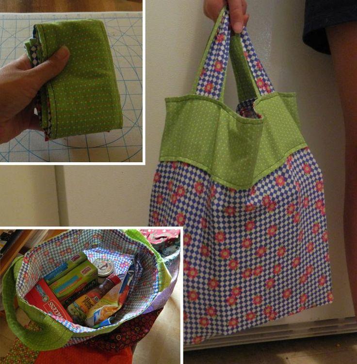 Fat Quarter Grocery Bag Christmas Gift Holiday