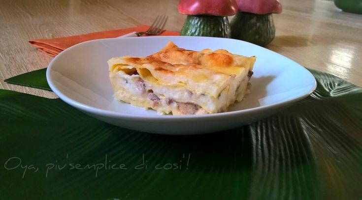 Lasagna ai funghi porcini, ricetta raffinata. http://blog.giallozafferano.it/oya/lasagna-ai-funghi-porcini-ricetta/