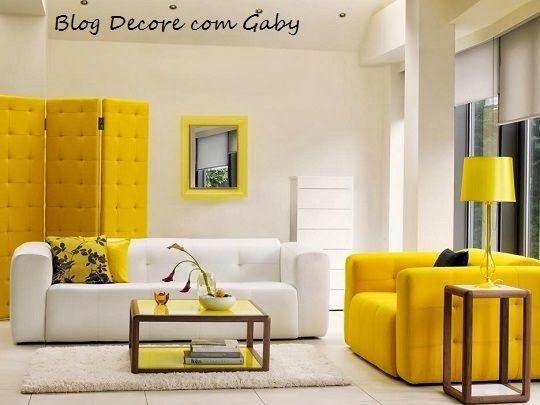 decore com gaby amarelo na decorao - Decore
