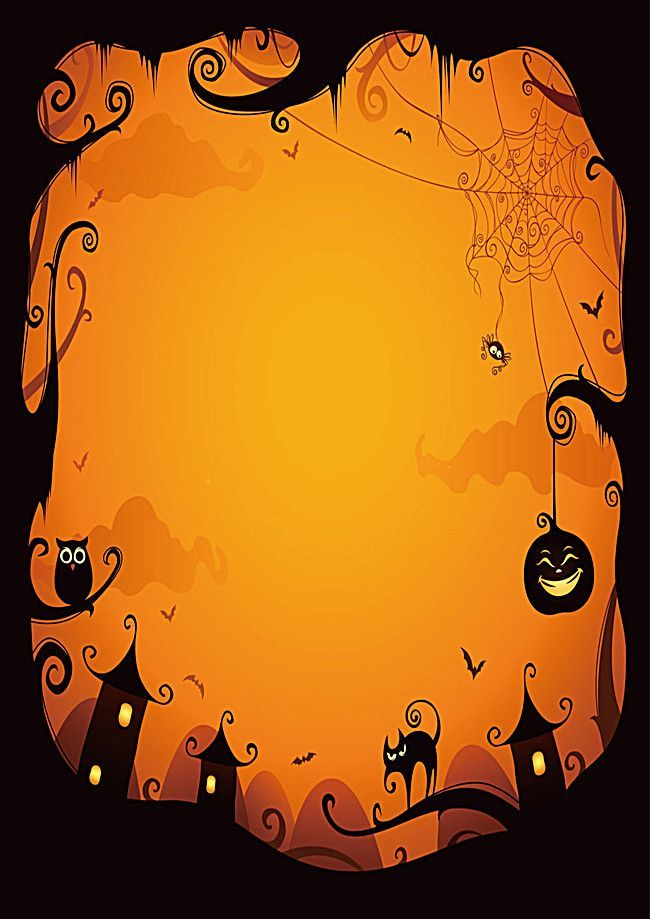 Yellow Halloween Poster Background Halloween Poster Halloween Borders Halloween Cards