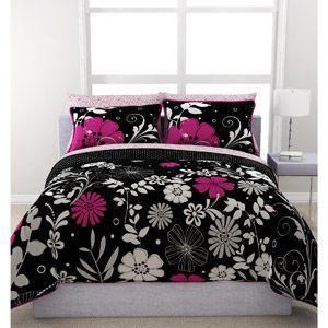 Home Bed In A Bag Black Bedroom Decor Comforter Sets