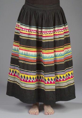 Seminole Patchwork Skirt, - Cowan's Auctions | Seminole ...