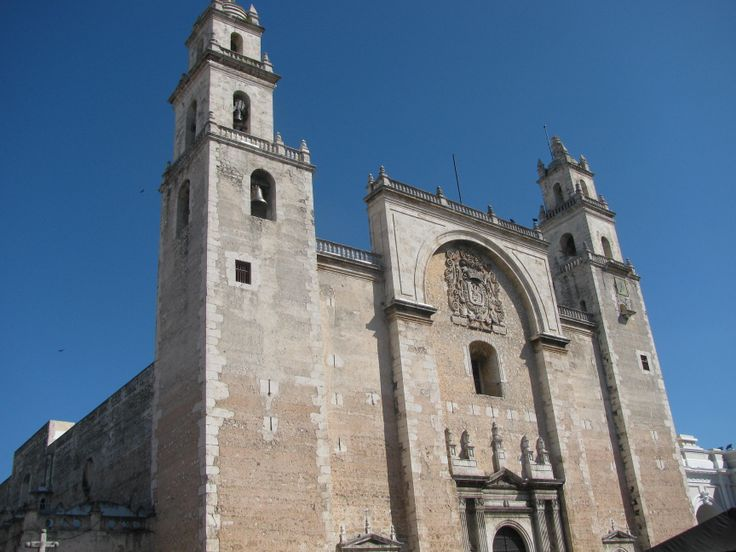 Cathedral of Merida, Yucatan: home to Our Lady of Yucatan. MADONNAS OF MEXICO
