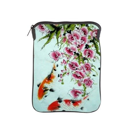Koi fishes and flowers iPad Sleeve