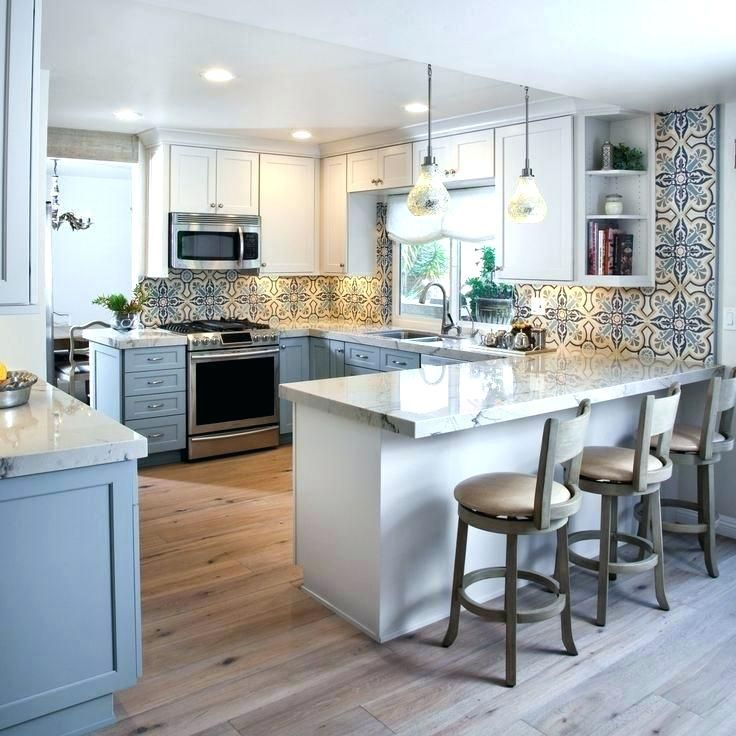 Small Galley Kitchen Peninsula Galley Kitchen Remodel Small Kitchen Design Color Kitchen Design