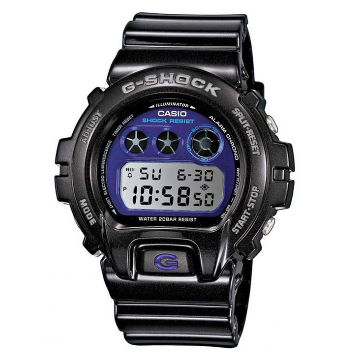 Great for men or women with it's distinctive purple dial, the Casio DW-6900MF-1ER is another tough G-Shock watch with a classic illuminator face for viewing in darker conditions, and all the standard G-Shock features. A great choice for anyone with an active lifestyle RRp £95 Our Price £65