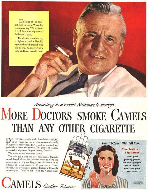 "PROPAGANDAS ANTIGAS - Cigarros Camel (época em que fumar era ""chic"")"
