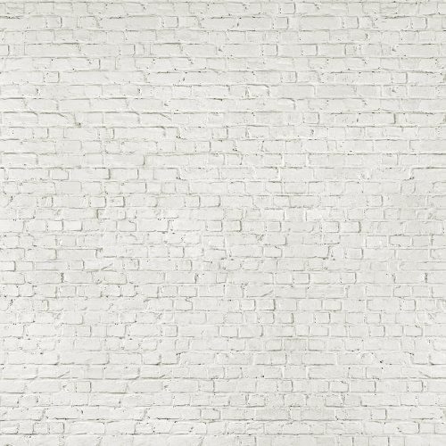 1wall loft style distressed white brick effect wallpaper for Distressed brick wall mural