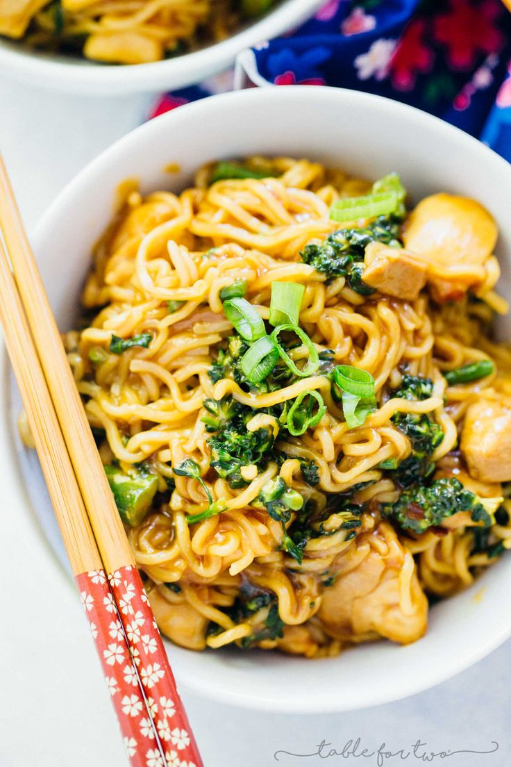 Combine a classic Chinese take-out dish together with ramen and you've got General Tso's chicken ramen right in your own home!