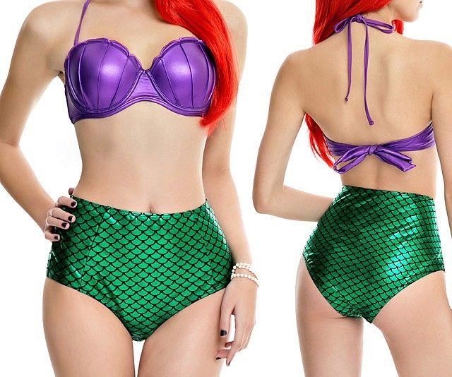 The Little Mermaid swimsuit!  http://www.thisiswhyimbroke.com/the-little-mermaid-bikini