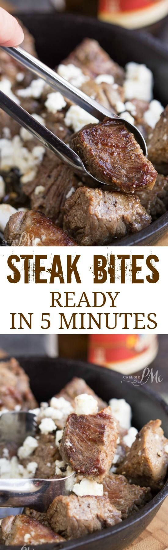 Jefferson Place Steak Bites are savory bites of hearty heaven! They take just minutes to prepare and my whole family loves them!