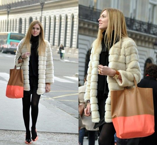 In Paris, weeks ago, with the new Celine bag (by Chiara Ferragni ...