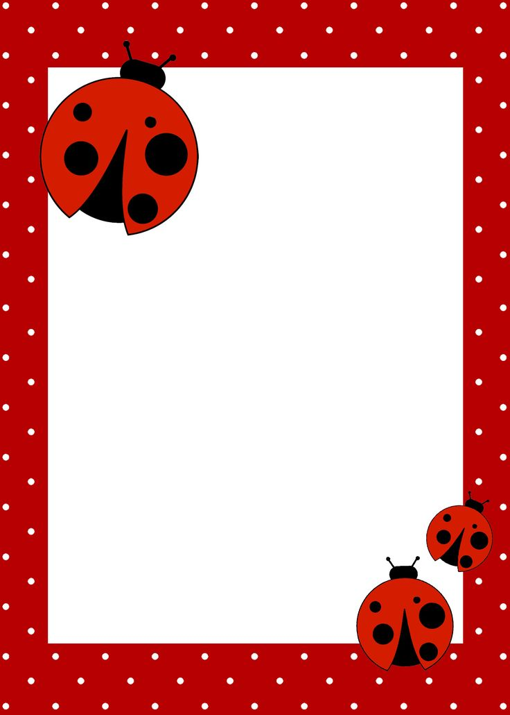 Free printables ~ ladybug birthday invitation, garland, cupcake holders, labels etc from How To Nest For Less
