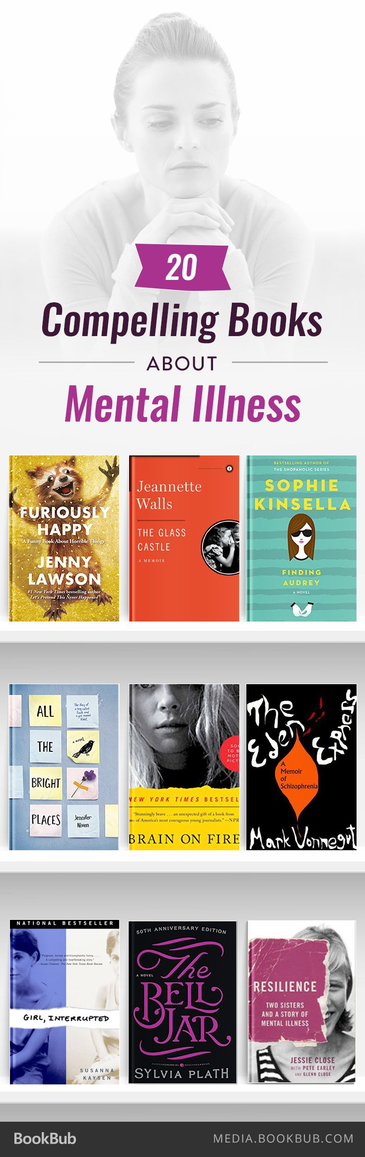 20 compelling books about mental illness.