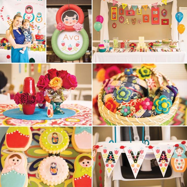 Playful Nesting Doll Party Theme {First Birthday} I adore Matryoshka Dolls