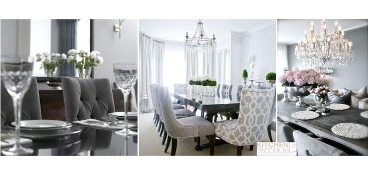 Серые кухонные гарнитур и мебель