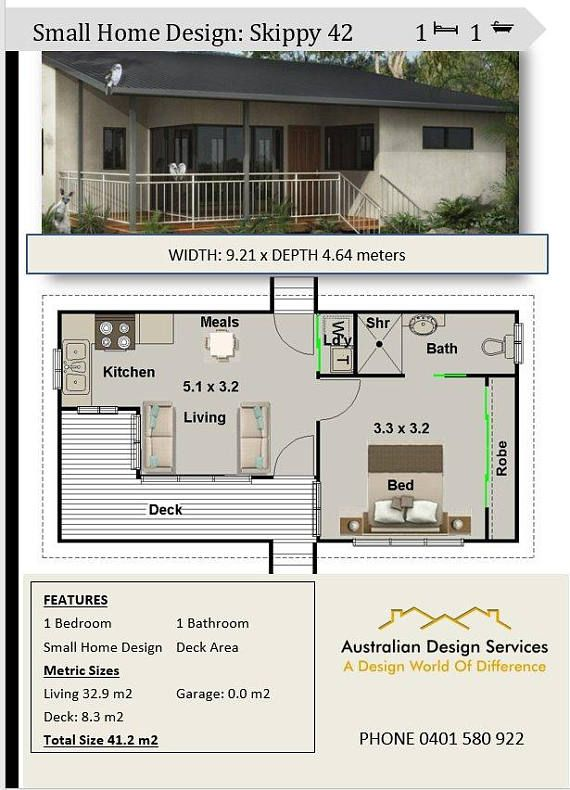 One Bedroom Small House Design House Design House Plans Australia