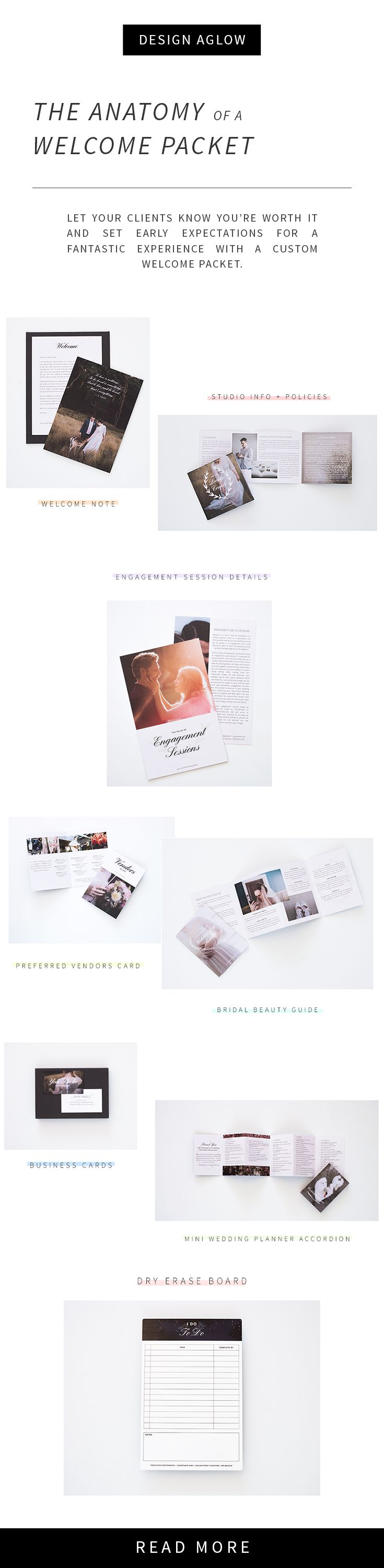 Welcome packets are the essential marketing tool that all photographers should have. Welcome packets set the scene for a boutique photography experience and position you as the premier studio in your market. Get started and customize your welcome packet today, no software needed!