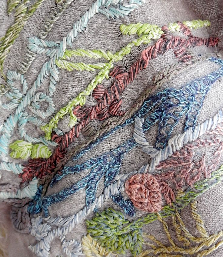 """""""Wild Plants""""Scarf – French Needlework Kits, Cross Stitch, Embroidery, Sophie Digard – The French Needle"""