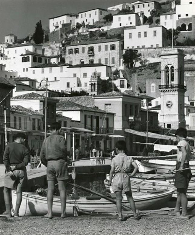 Hydra In 1960s he visited Greece and captured scenes from social events, everyday life, rural habits and Greek traditions. The photographs were mostly taken on the island of Skiathos with a few from his subsequent visits to Hydra and Athens.