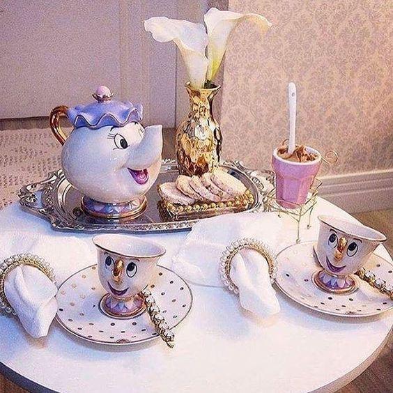 Creative Swan Porcelain Tea Set Elegant Tea Pot Rose Cup