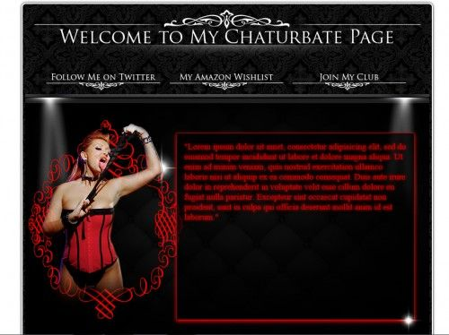 Chaturbate Bio Design Dark Theme