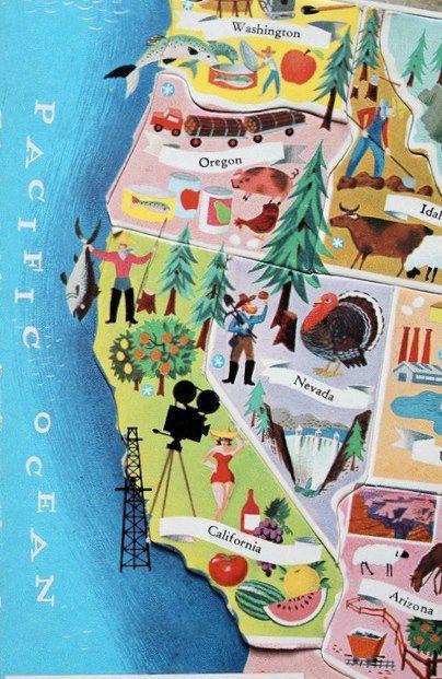 Vintage Map my grandma holgate i think had the puzzel map?