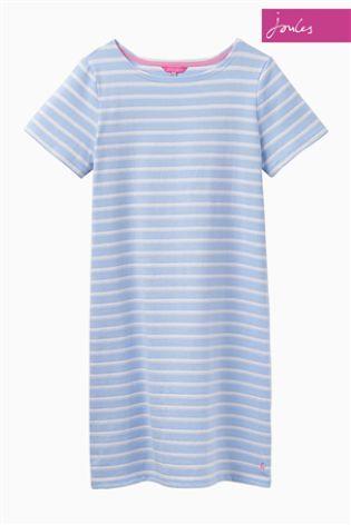 Joules Riviera Luxe Blue Stripe Jersey T-Shirt Dress
